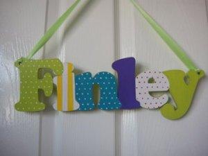 Tiddly Pom, handmade door signs, baby gift