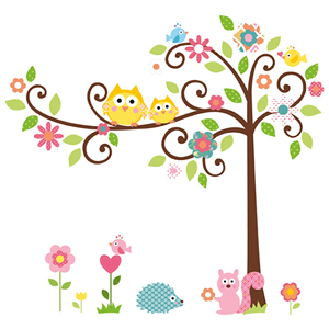 Becky and Lollo, wall stickers, nursery decor