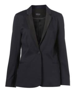 Navy tuxedo jacket, Topshop