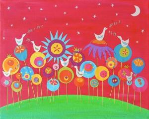 Song For the Moon, Caroline Rose Art, children's art, nursery decor
