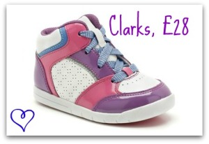 Clarks toddler trainers, toddler hi-tops