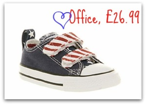 Converse toddler trainers, Converse stars and stripes trainers