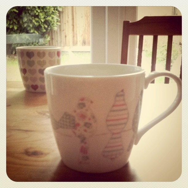 John Lewis mugs, pretty cups, bird cup