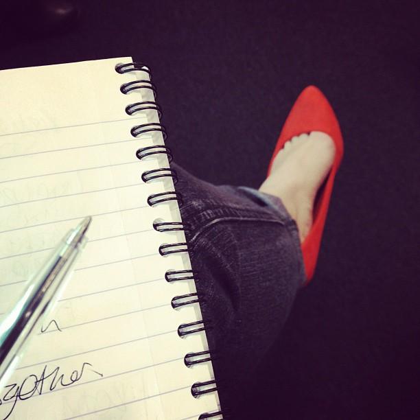 Dorothy Perkins heels, orange heels, heels for work, comfortable high heels