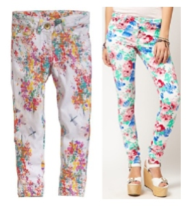 Kids floral jeans, ASOS River Island Floral jeans, mummy daughter matching