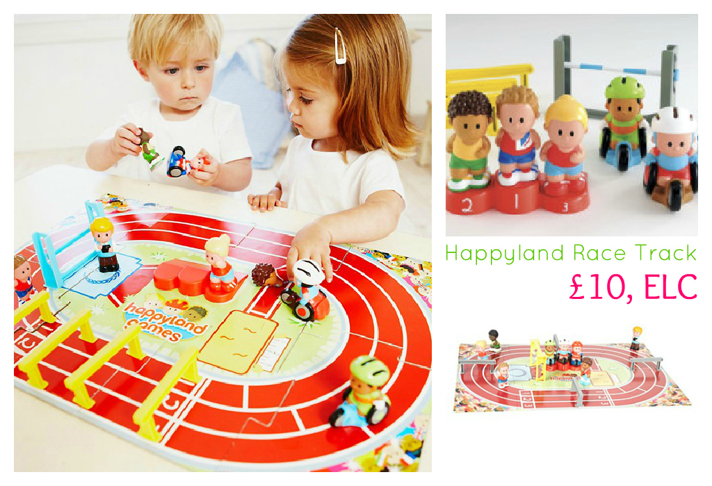 HappyLand Race Track Sports Day toy, toy race track, Early Learning Centre, ELC, Olympics toys, London 2012 toys
