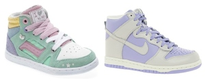 Pastel hi-tops, trainers for kids, Nike hi-tops, Next trainers for kids