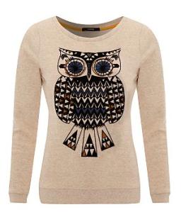 Owl jumper, George at ASDA, owl print top, owl trend