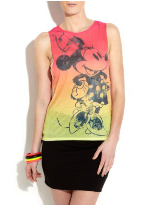 New Look Minnie Mouse t-shirt, cartoon fashion, Cheryl Cole