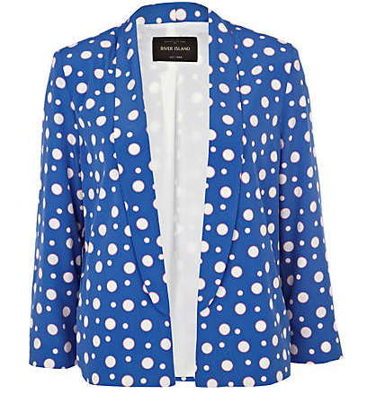 River Island polka dot blazer, spotty clothes, polka dot fashion