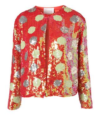 Louise Gray at Topshop jacket, polka dot jacket, sequin jacket