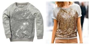 Next sequin sweatshirt, La Redoute sequin sweatshirt, cool kidswear, mummy and daughter fashion