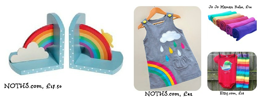 Rainbow clothes for kids, Not on the high street, Etsy, Jo Jo Maman Bebe