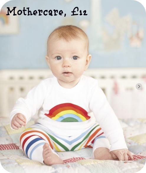 Little Bird at Mothercare rainbow pyjamas, Jools Oliver, Jules Oliver, PJs for kids, baby pyjamas